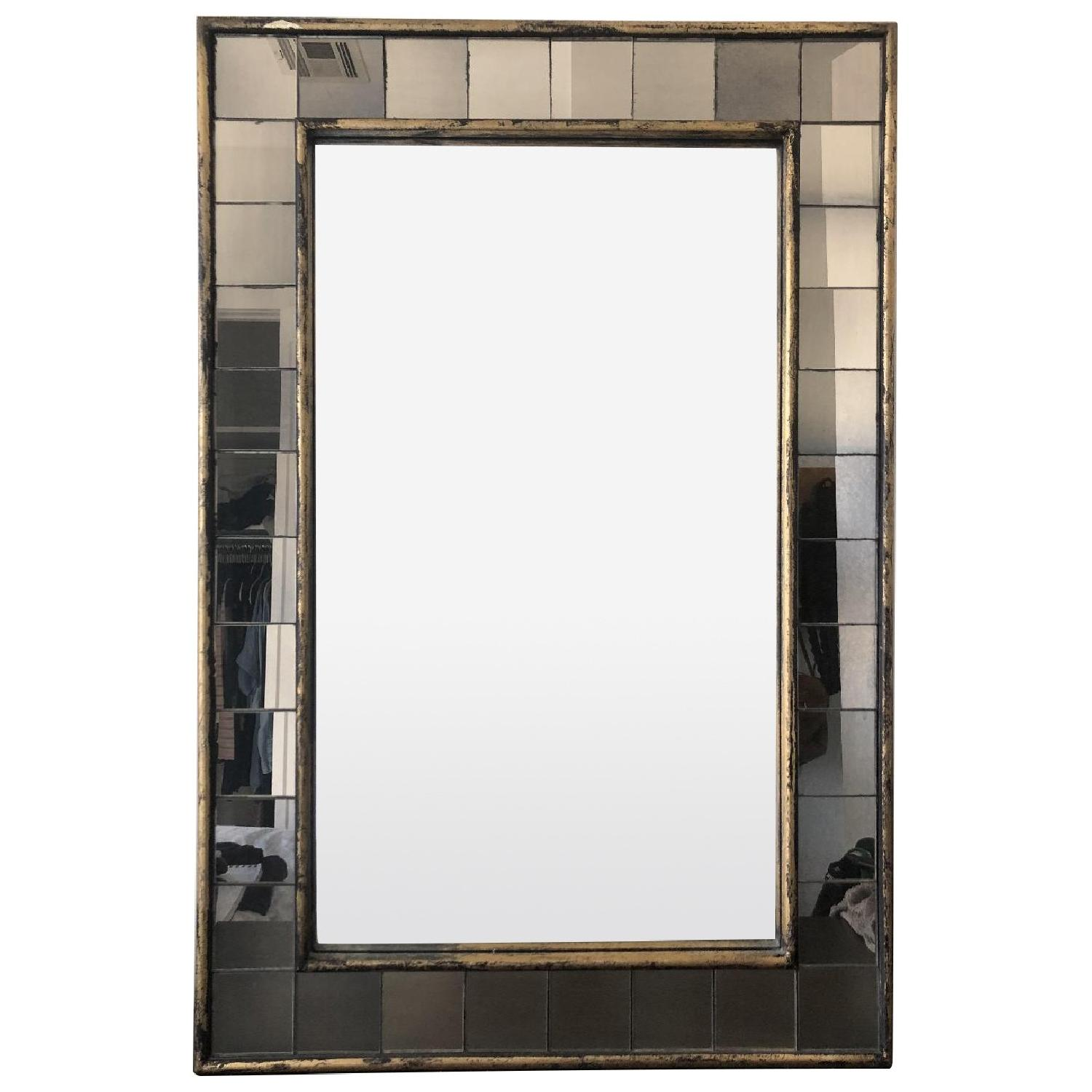 West Elm Antique Tiled Wall Mirror - image-0