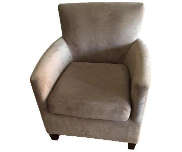 Tan Fabric Armchair