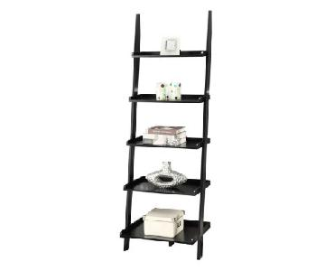 The Container Store Linea Leaning Bookcase in Java