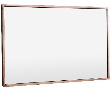 West Elm Rose Gold Metal Frame Mirror