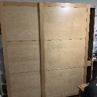 Ikea natural wood wardrobe