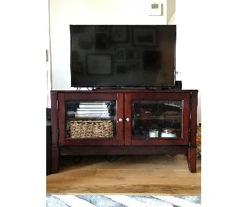 Raymour & Flanigan Cherry Wood Media Console