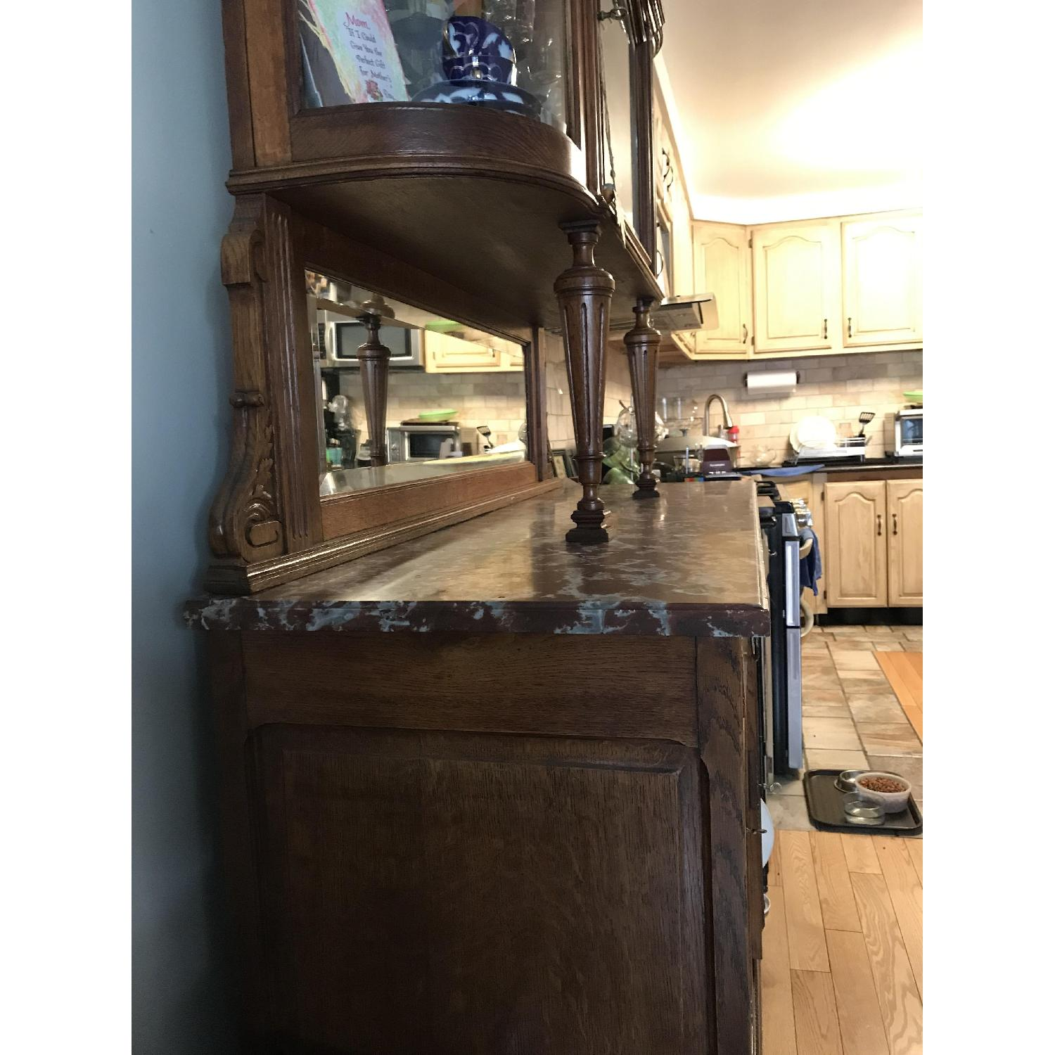 French Antique Handmade Buffet/China Cabinet - image-3