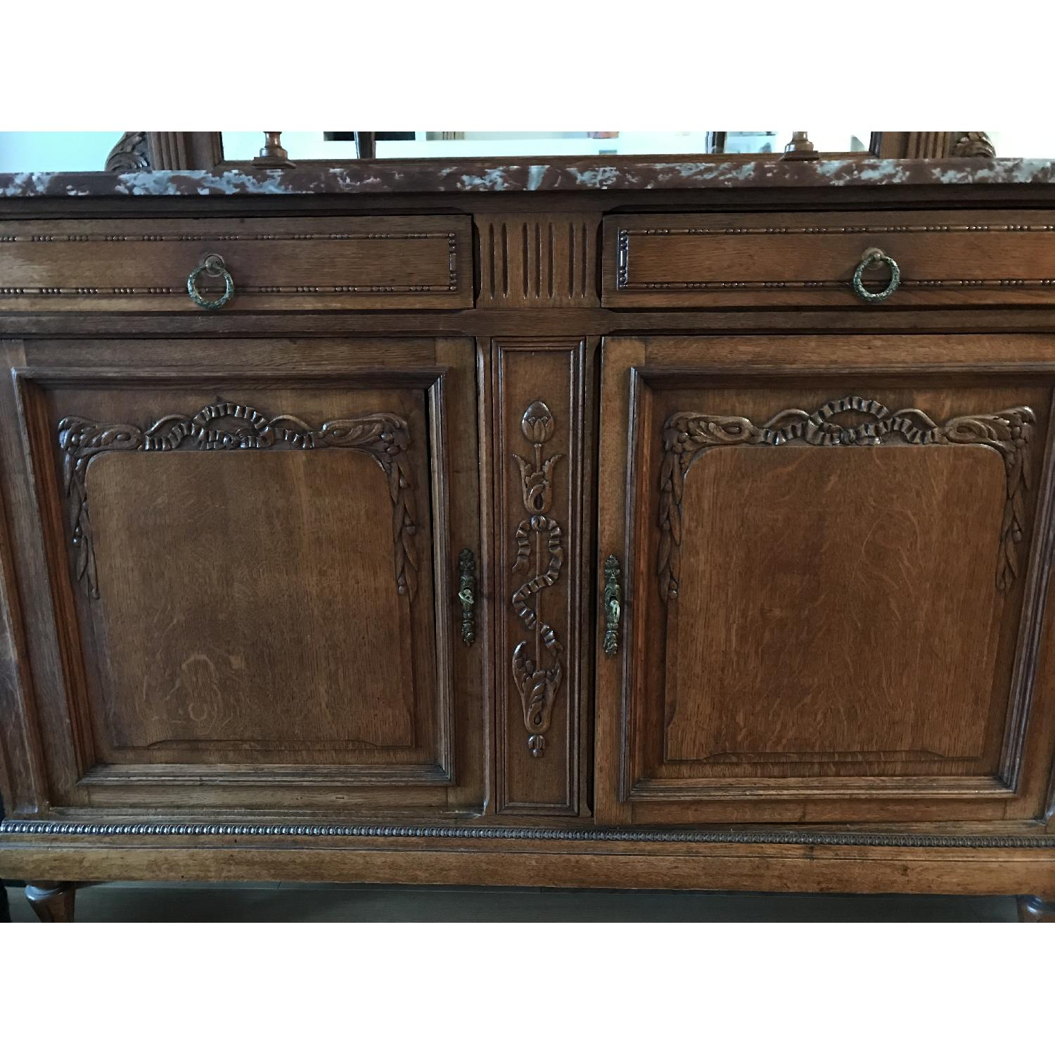 French Antique Handmade Buffet/China Cabinet - image-4