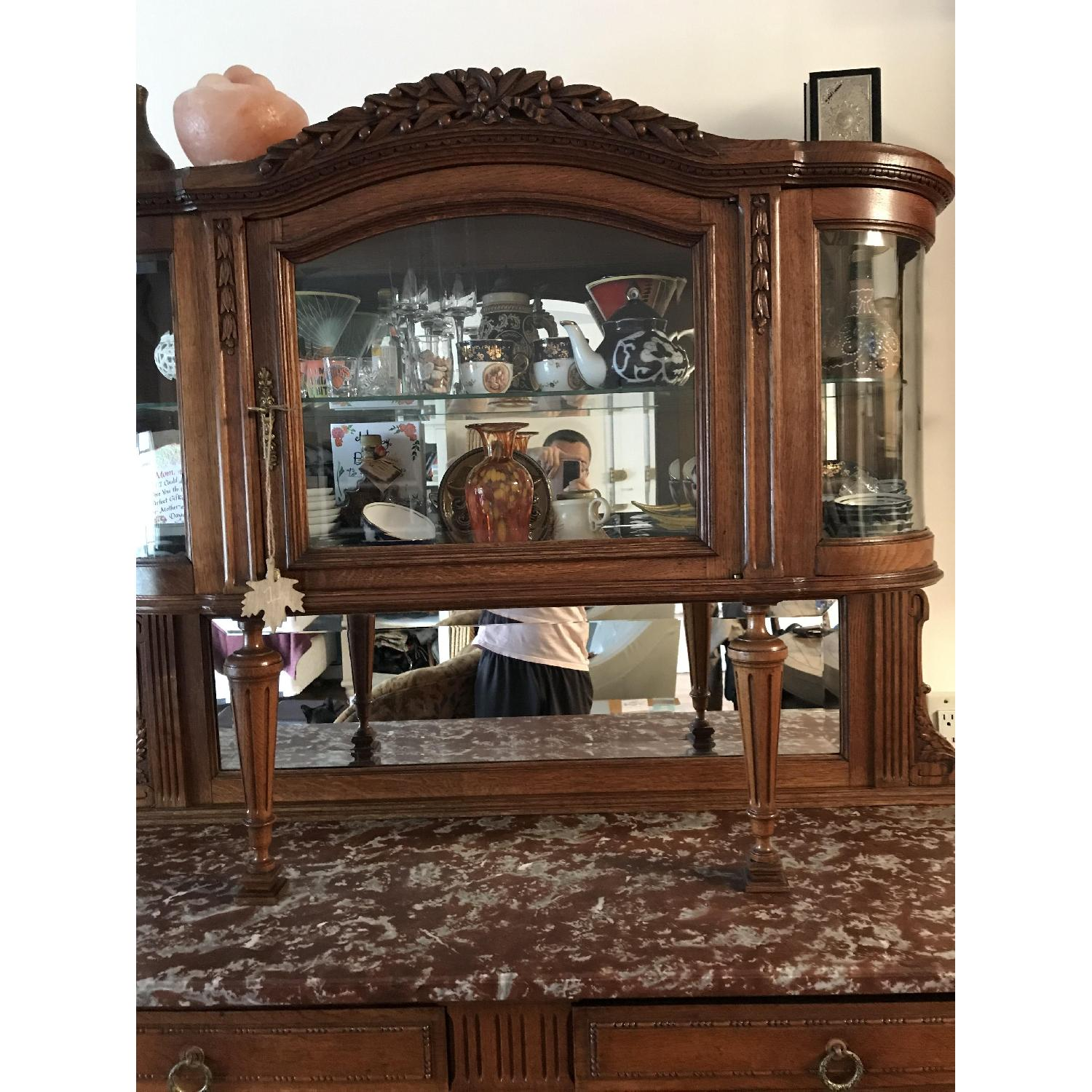 French Antique Handmade Buffet/China Cabinet - image-6
