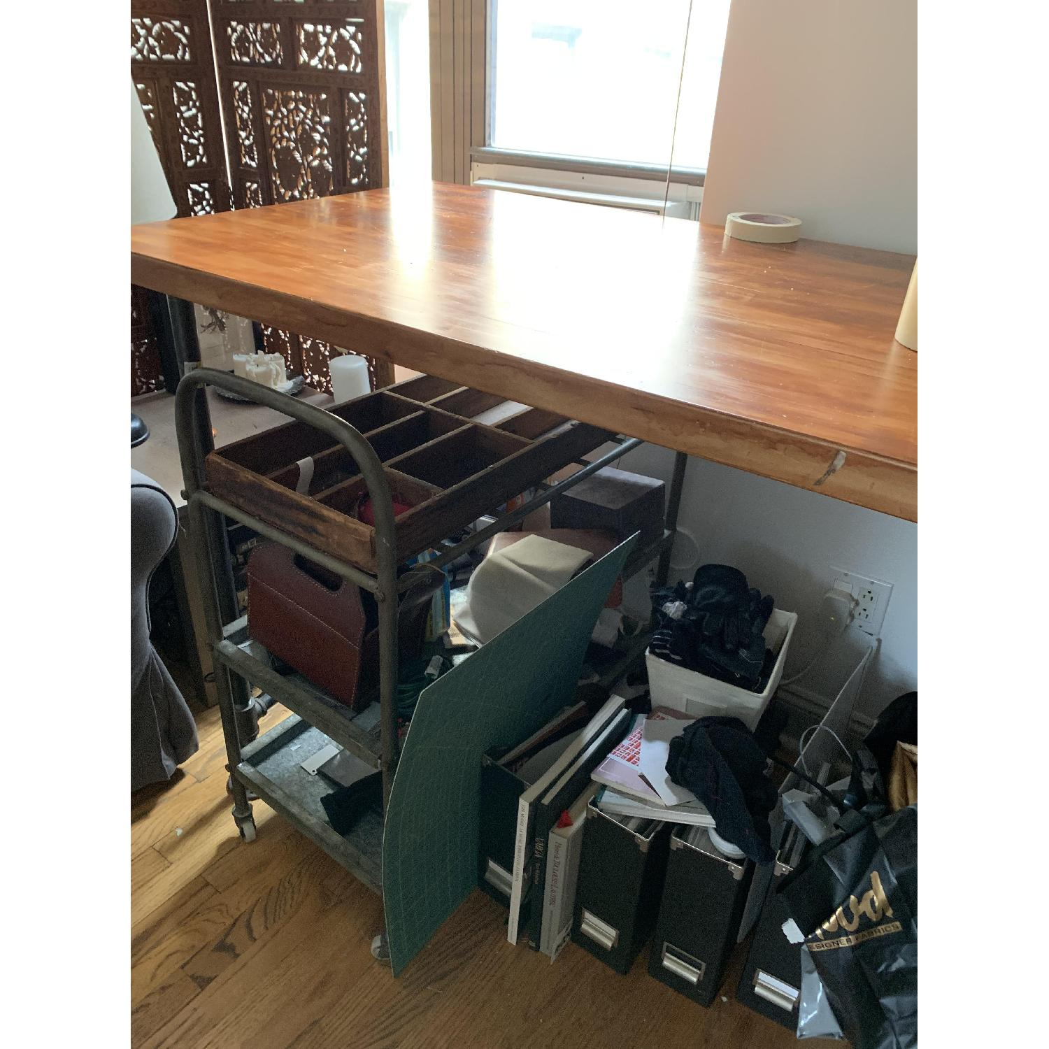 Counter Height Industrial Work Bench/Island - image-2
