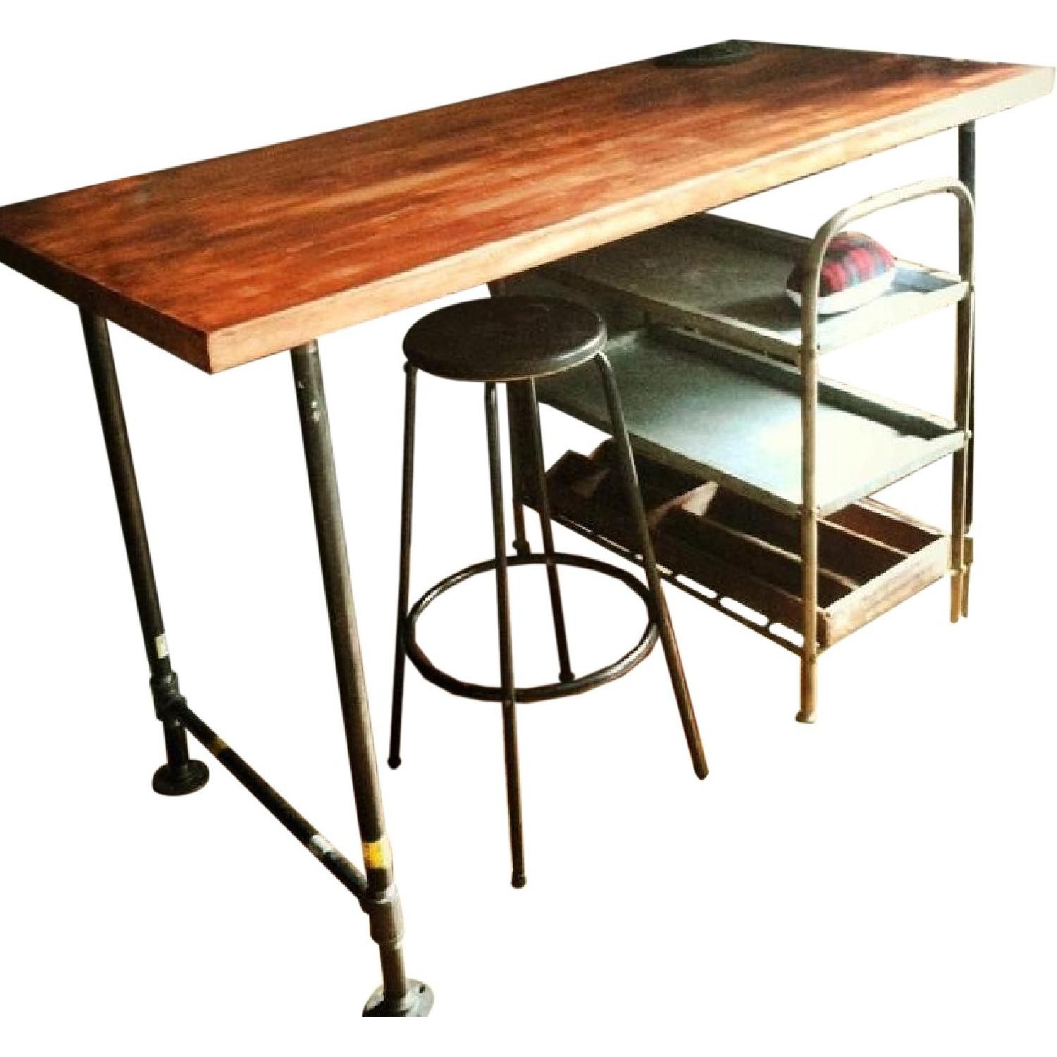 Counter Height Industrial Work Bench/Island - image-0