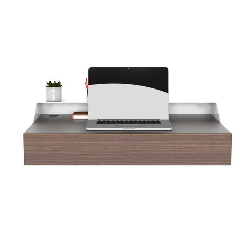 Orange22 Modern Hideaway Wall Desk - image-0