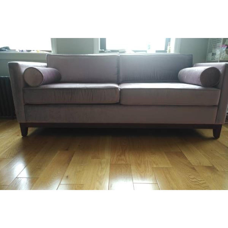 Urban Outfitters Piper Petite Velvet Sofa - image-1