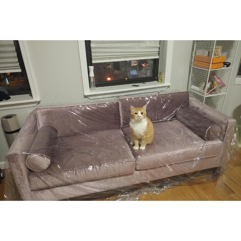 Urban Outfitters Piper Petite Velvet Sofa - image-2