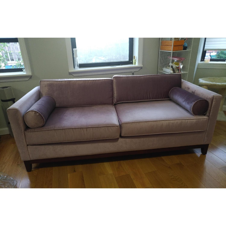 Urban Outfitters Piper Petite Velvet Sofa - image-8