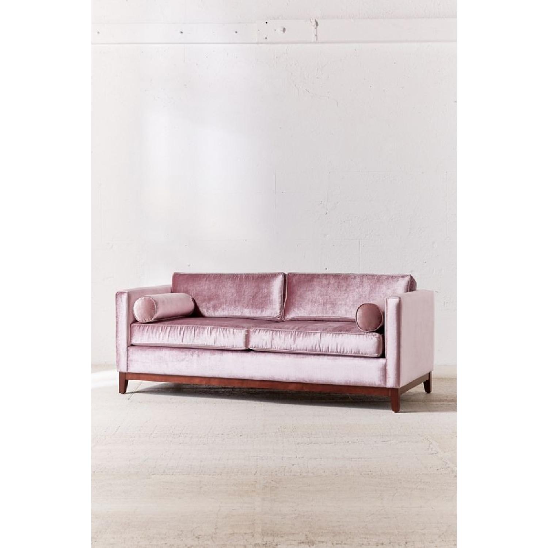 Urban Outfitters Piper Petite Velvet Sofa - image-9