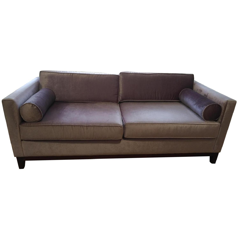 Urban Outfitters Piper Petite Velvet Sofa - image-0