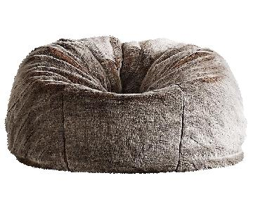 Restoration Hardware Faux Fur Bean Bags in Lynx