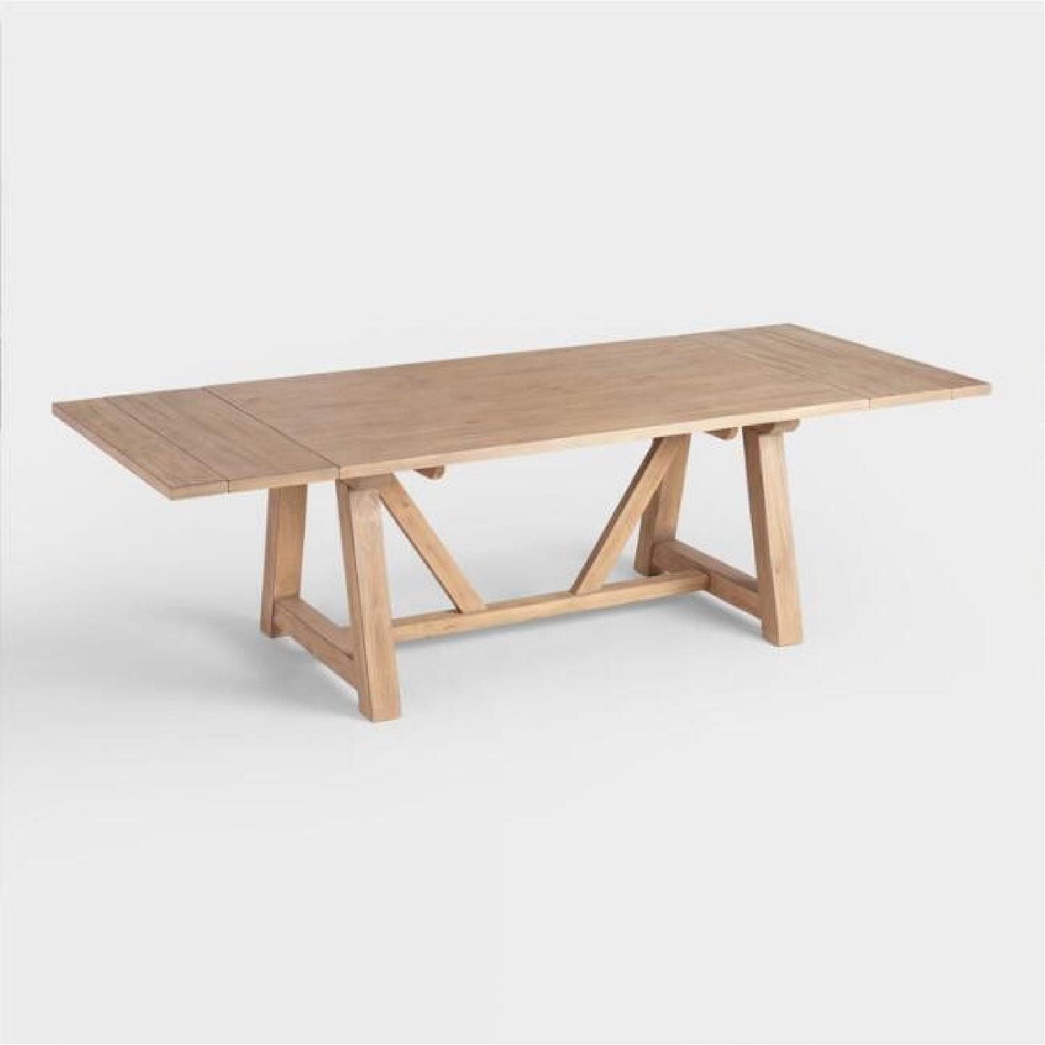 World Market Farmhouse Extension Dining Table - image-1