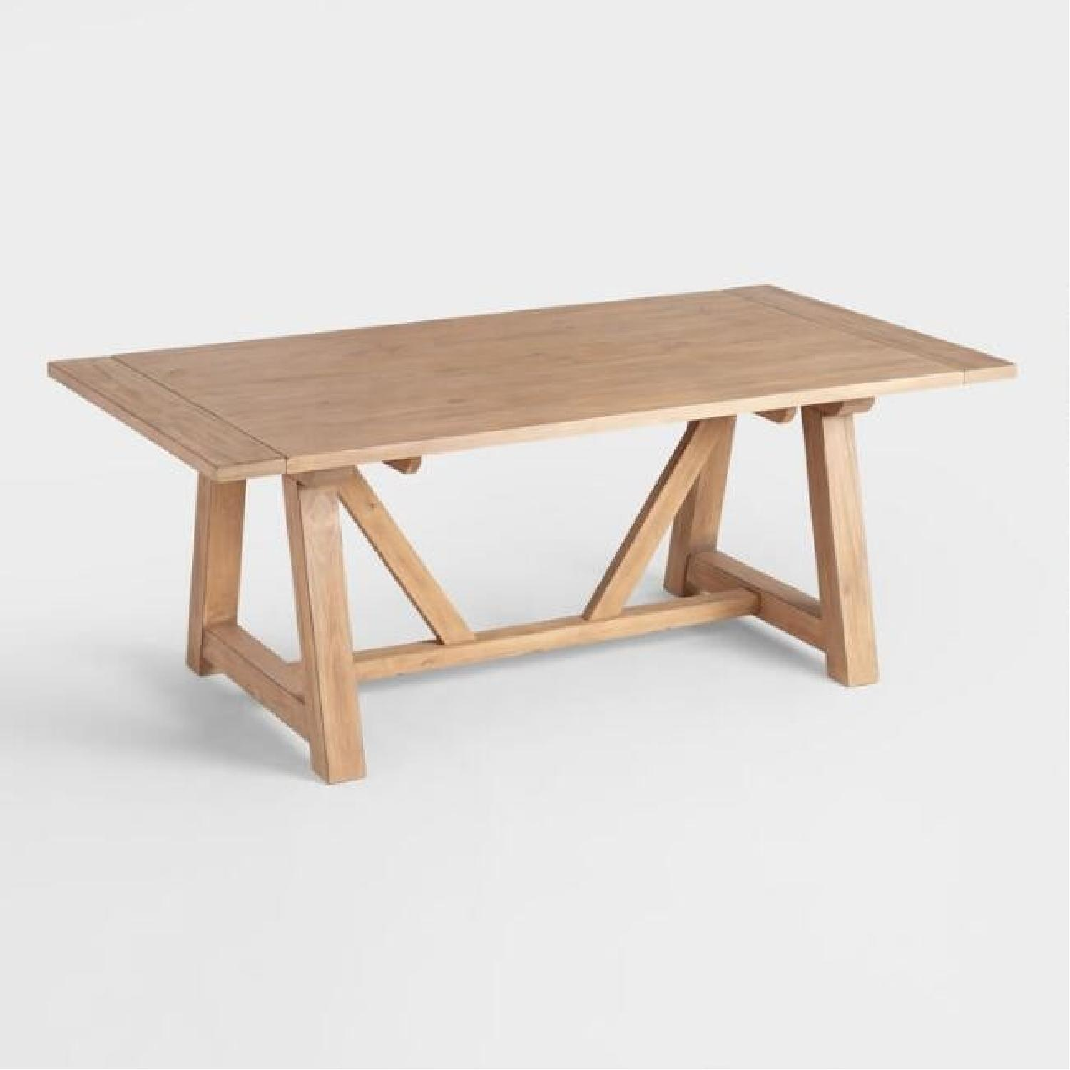 World Market Farmhouse Extension Dining Table - image-2