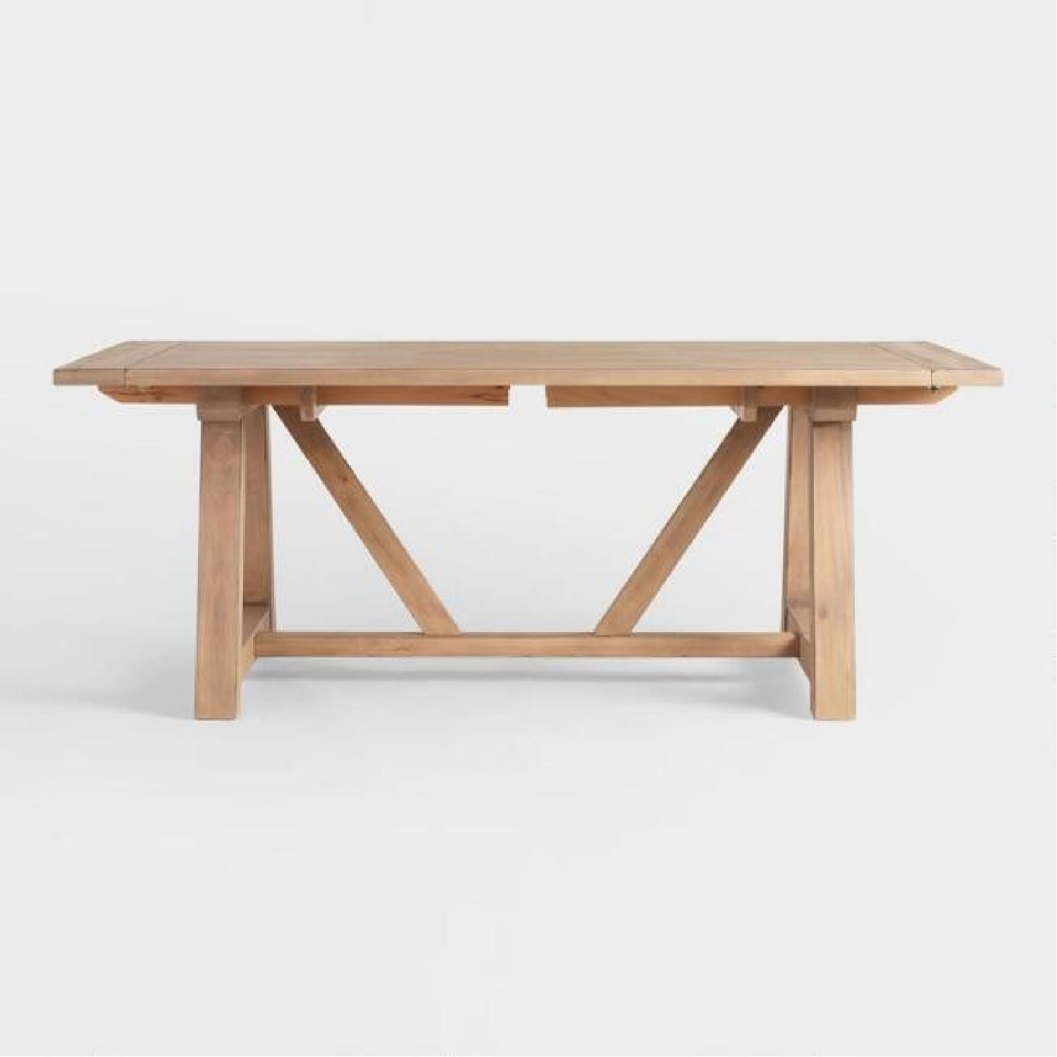 World Market Farmhouse Extension Dining Table - image-3