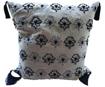 Two-Sided Beige Pattern Decorative Pillow