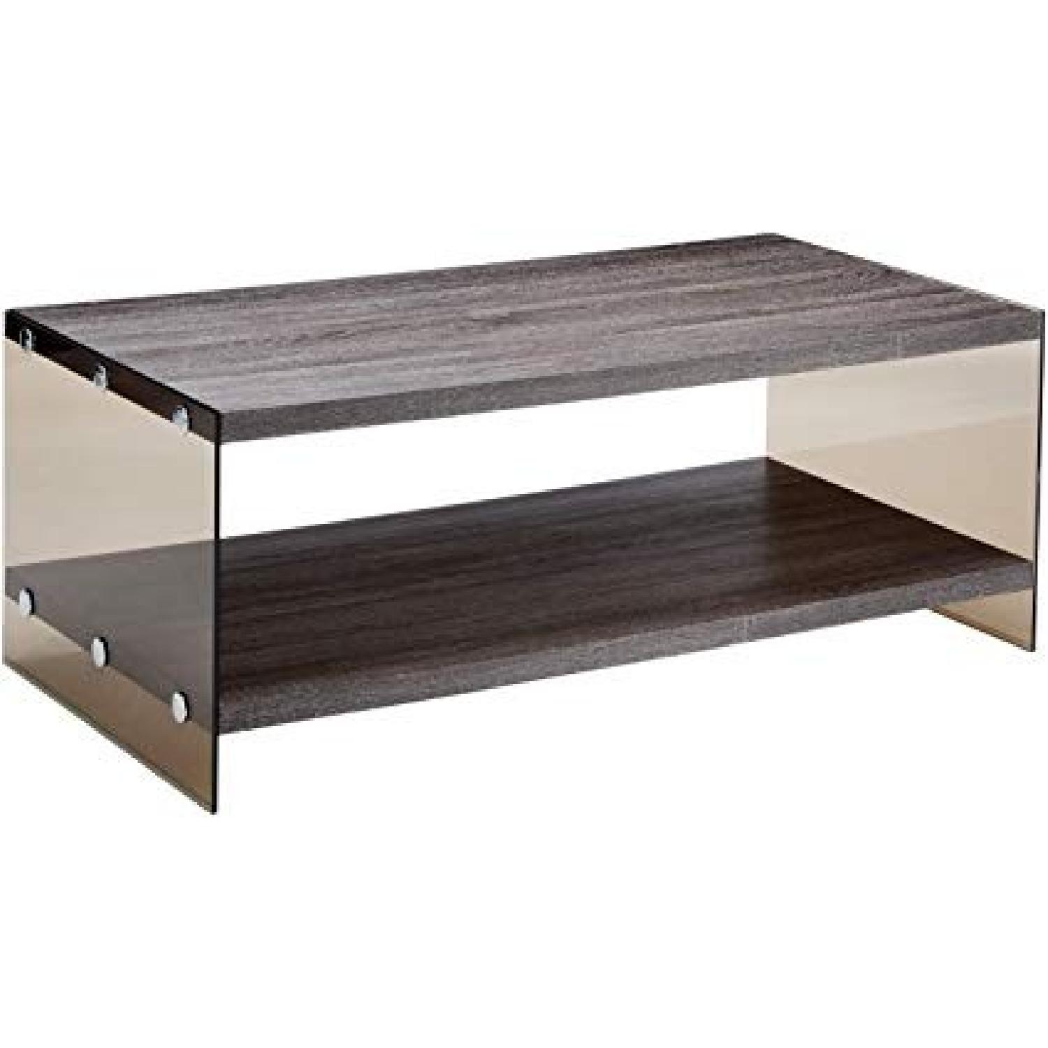 Weathered Grey Modern Coffee Table - image-0