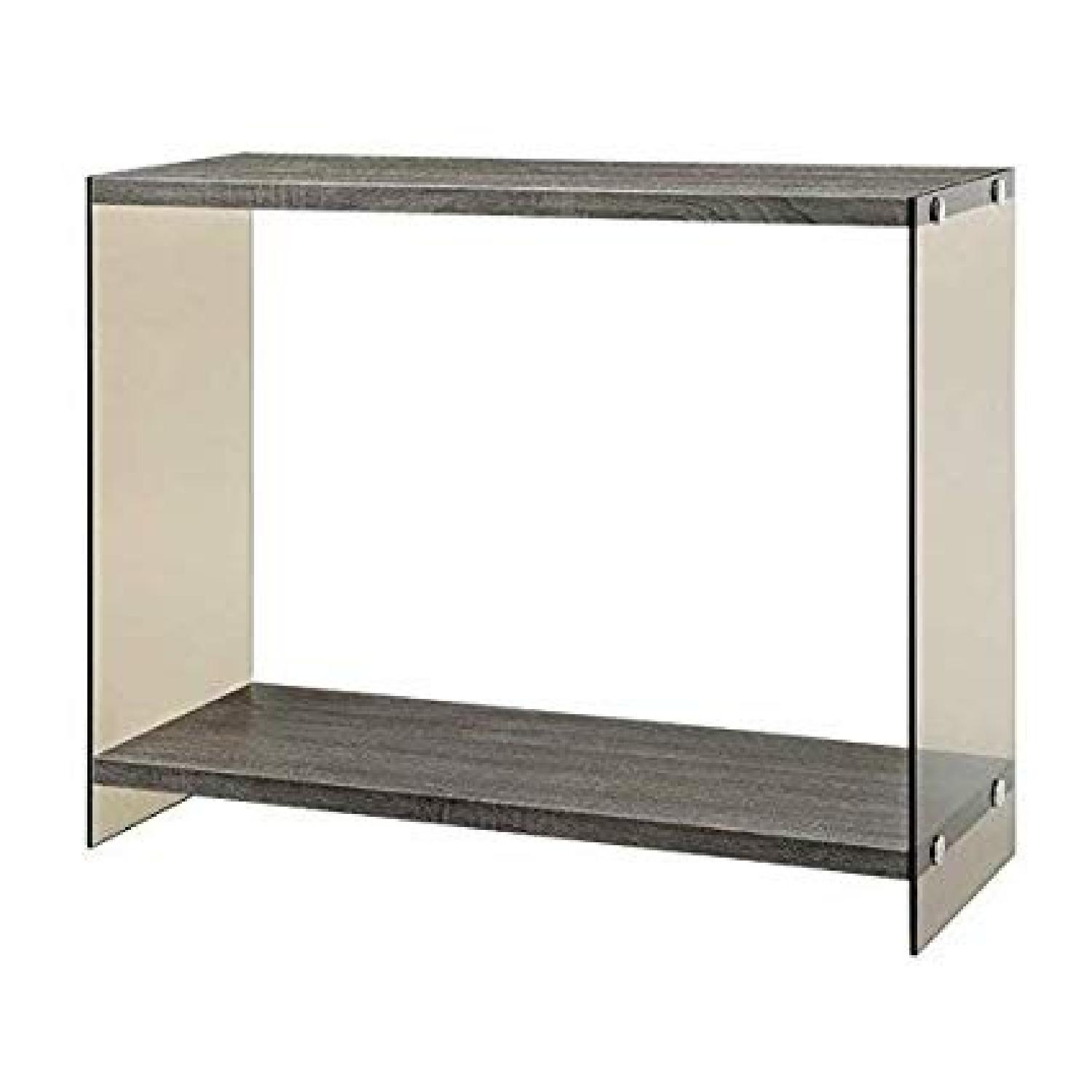 Weathered Grey Modern Sofa Table