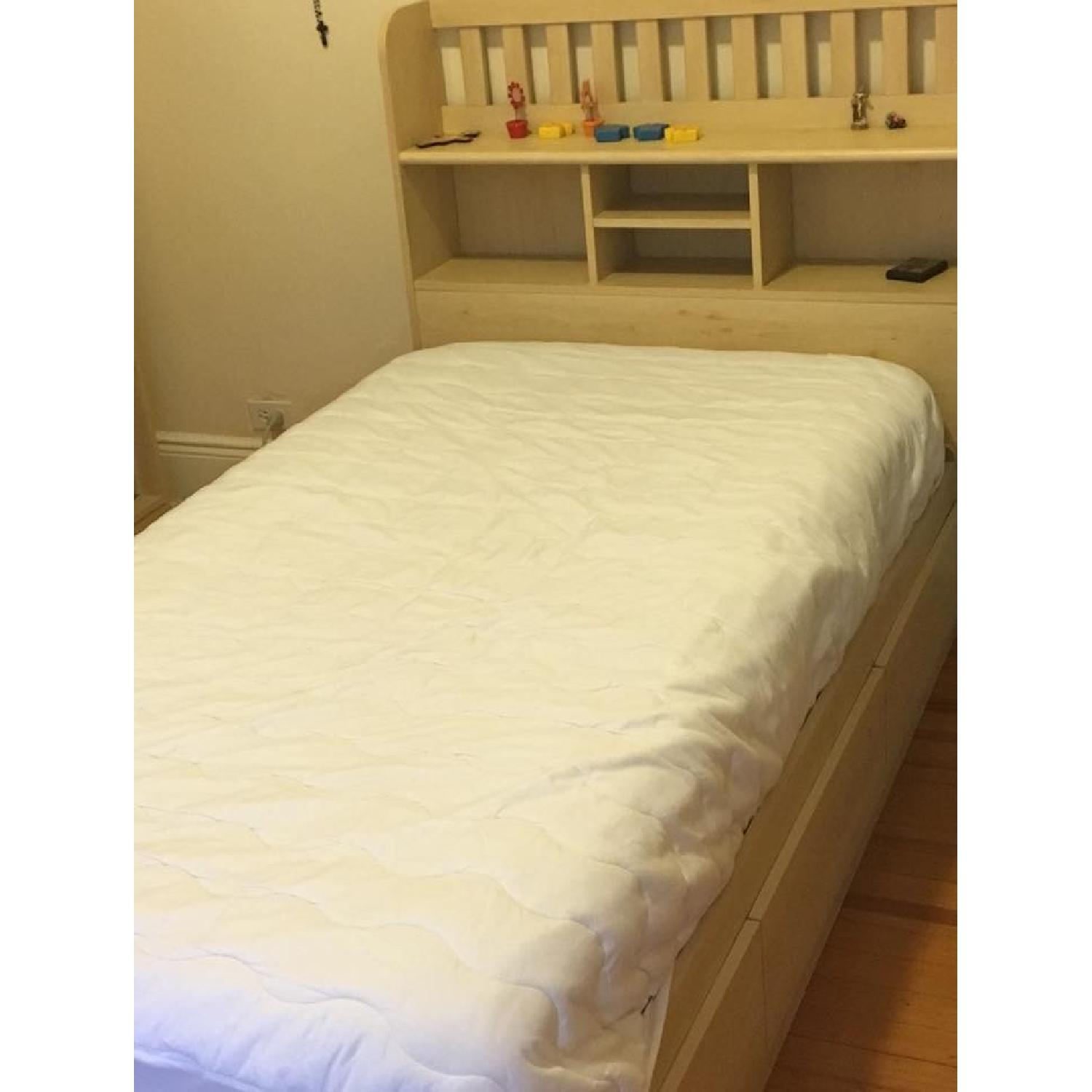 Ikea Twin Storage Bed w/ Storage Headboard - image-1