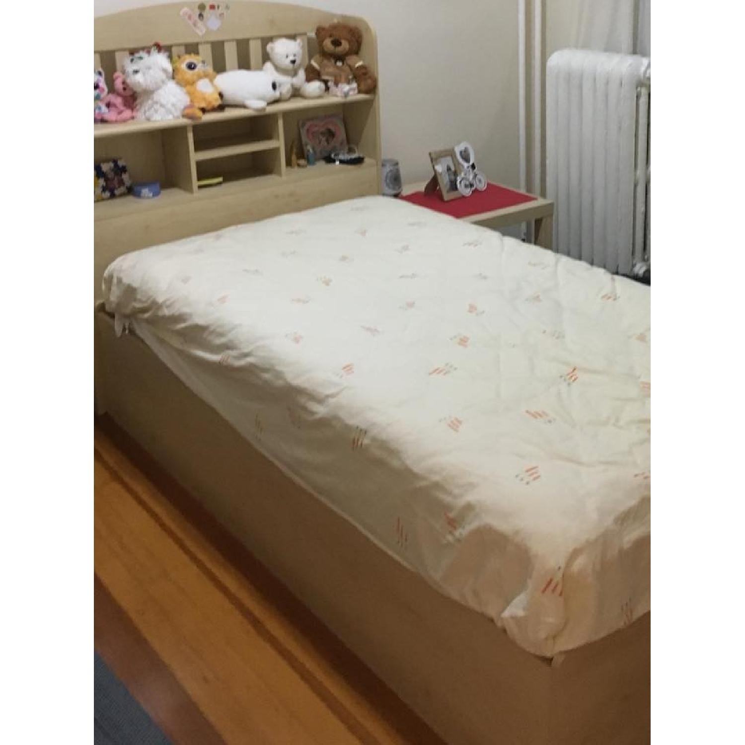 Ikea Twin Storage Bed w/ Storage Headboard - image-4