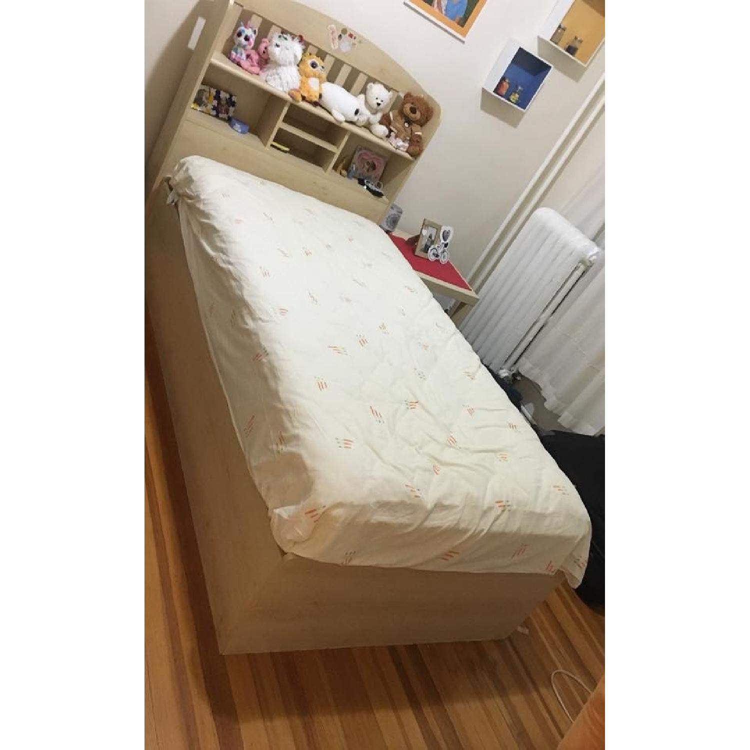 Ikea Twin Storage Bed w/ Storage Headboard - image-5