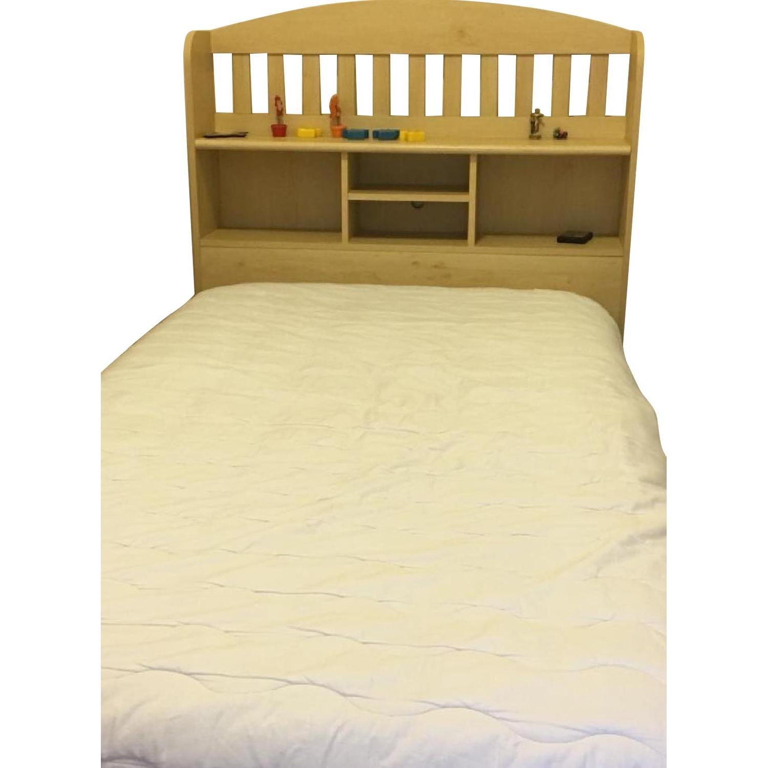 Ikea Twin Storage Bed w/ Storage Headboard - image-0
