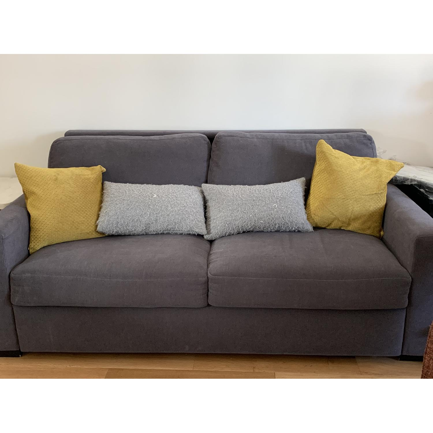 Room & Board Berin Wide Arm Sleeper Sofa in Dark Grey