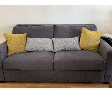 Room & Board Berin Wide Arm Sleeper Sofa in Dark Grey
