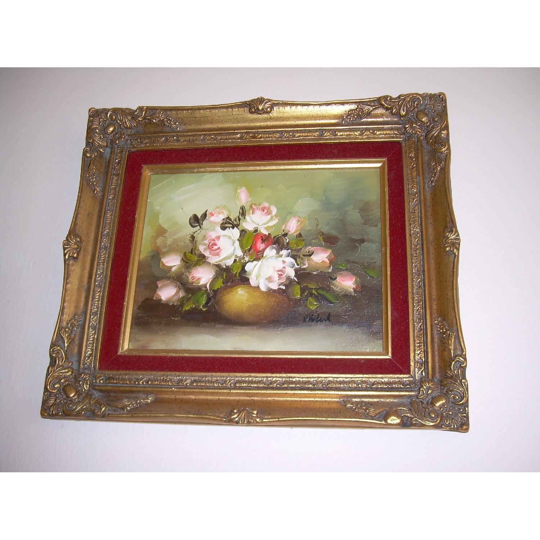 K Hobert Oil Painting - Pink Roses - image-1