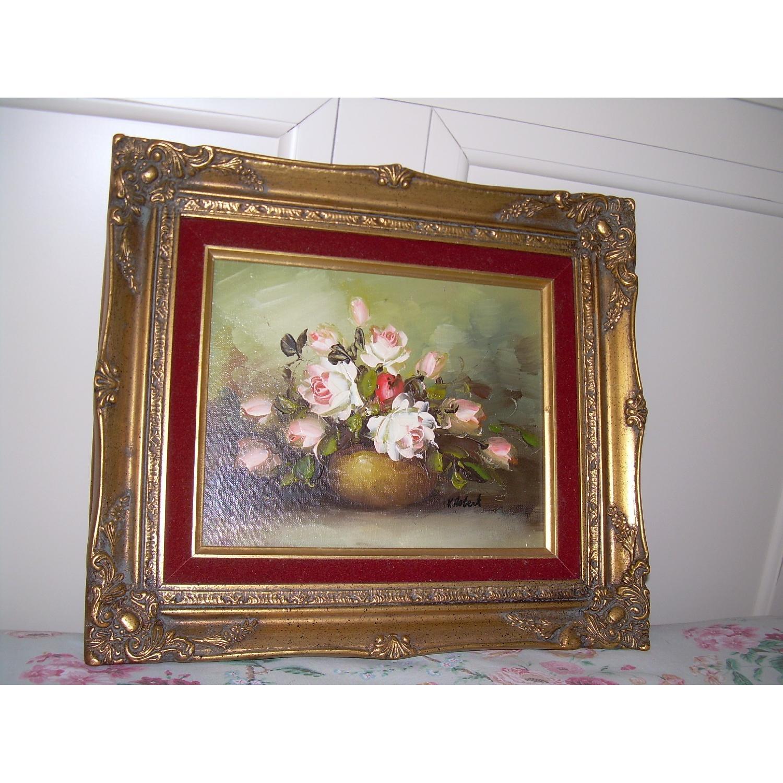 K Hobert Oil Painting - Pink Roses - image-2
