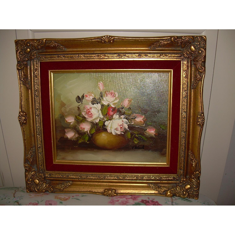 K Hobert Oil Painting - Pink Roses - image-6