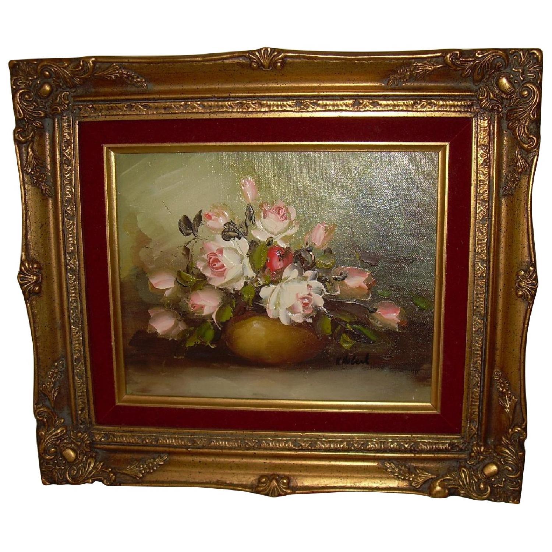 K Hobert Oil Painting - Pink Roses - image-0