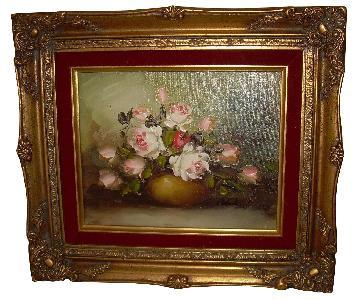 K Hobert Oil Painting - Pink Roses
