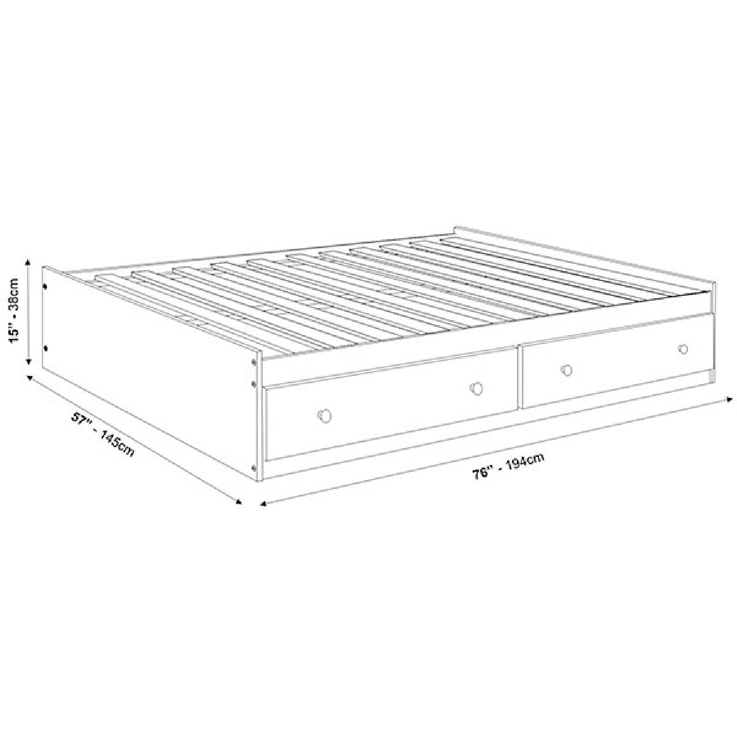 Full Size Solid Wood Bed in Java Finish w/ Storage Drawers - image-1