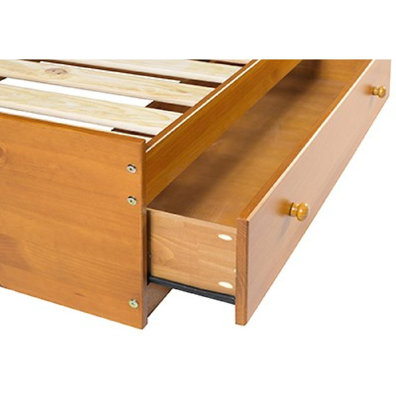 Twin Size Solid Wood Bed in Mahogany w/ Storage Drawers - image-6