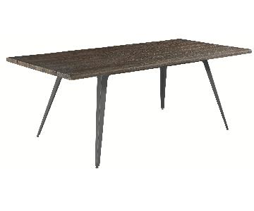 Industrial Vintage Style Dining Table w/ Handcrafted Top