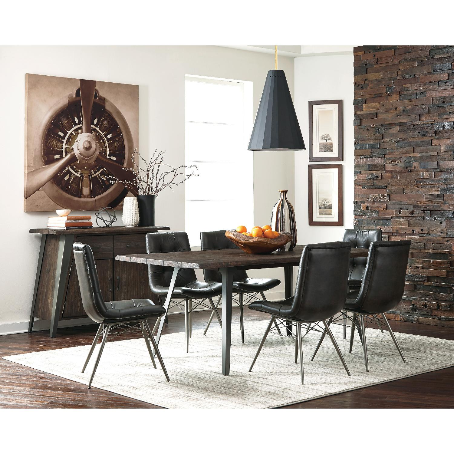 Industrial Vintage Style Dining Table w/ Handcrafted Top - image-3