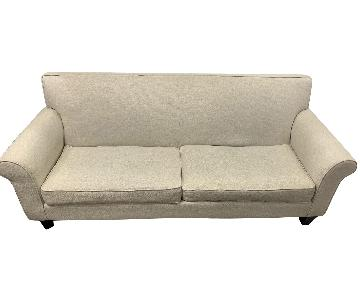 Pier 1 Cream-Colored Sofa