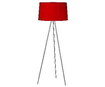 Lights Up! Weegee Red Tripod Floor Lamp