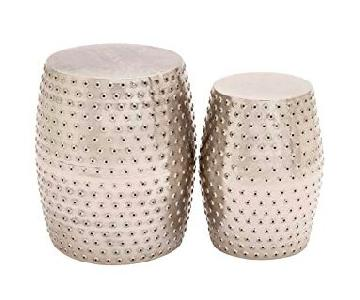 Woodland Imports Metal Punched Stools
