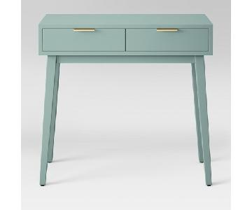Target Hafley 2-Drawer Console Table in Smoke Green