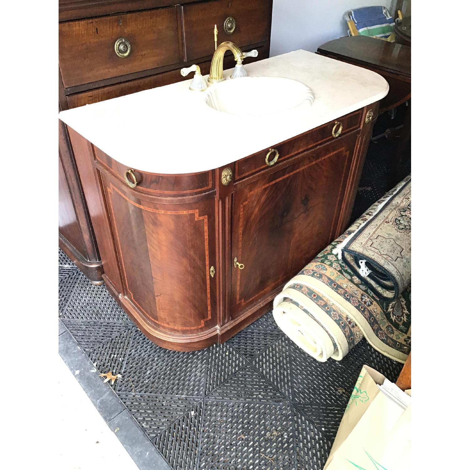 Phylrich Faucet Sink Mahogany Vanity-0