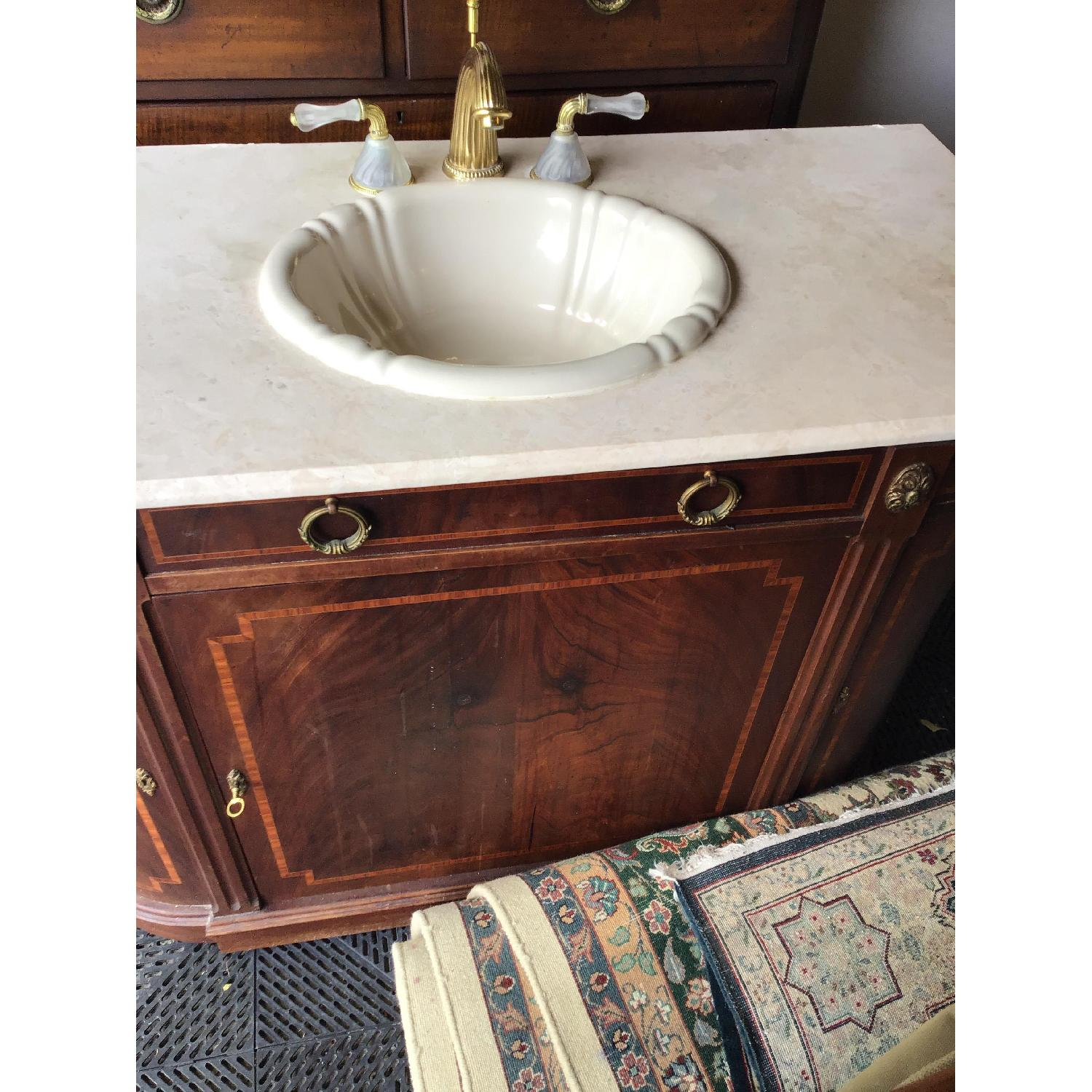 Phylrich Faucet Sink Mahogany Vanity-1