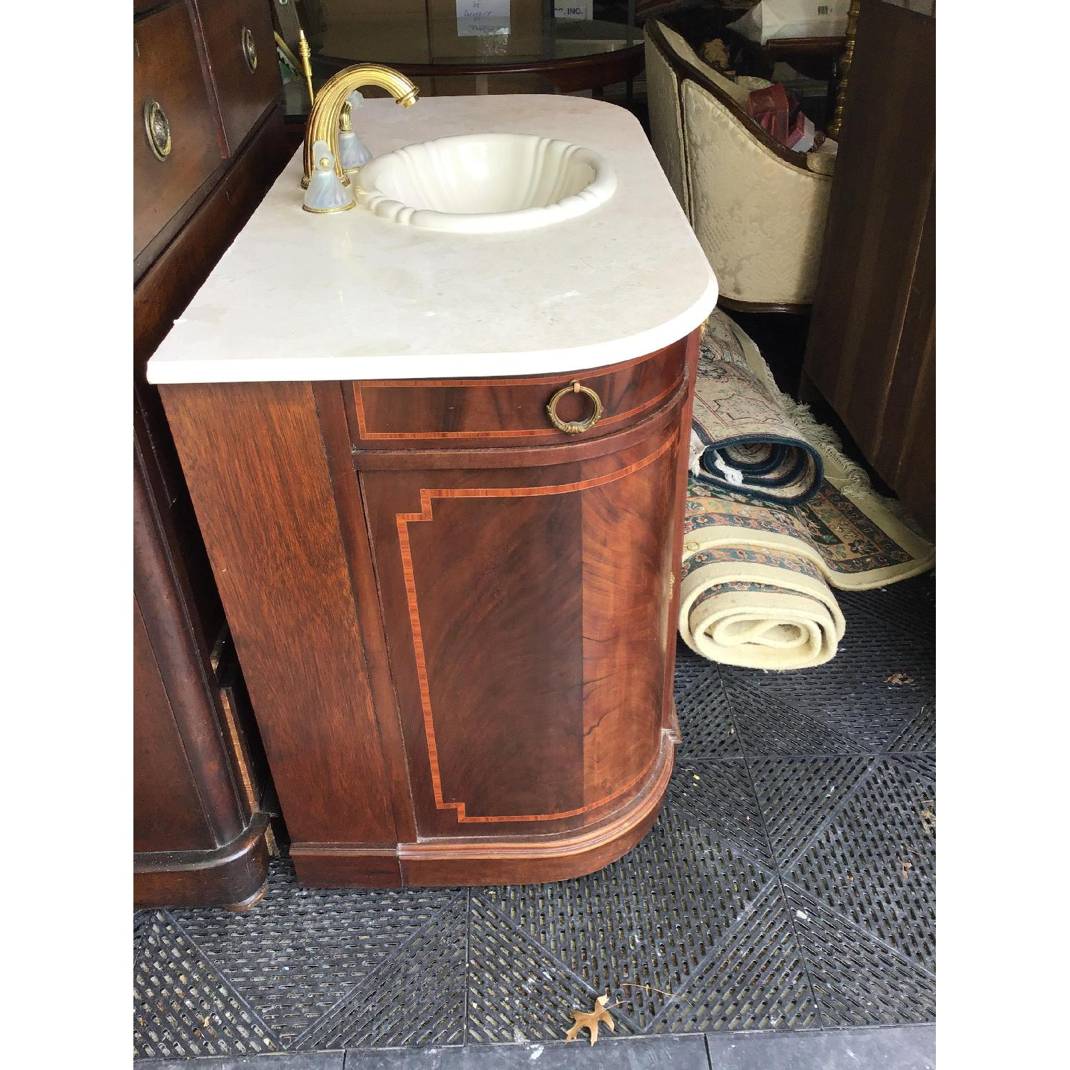 Phylrich Faucet Sink Mahogany Vanity-2