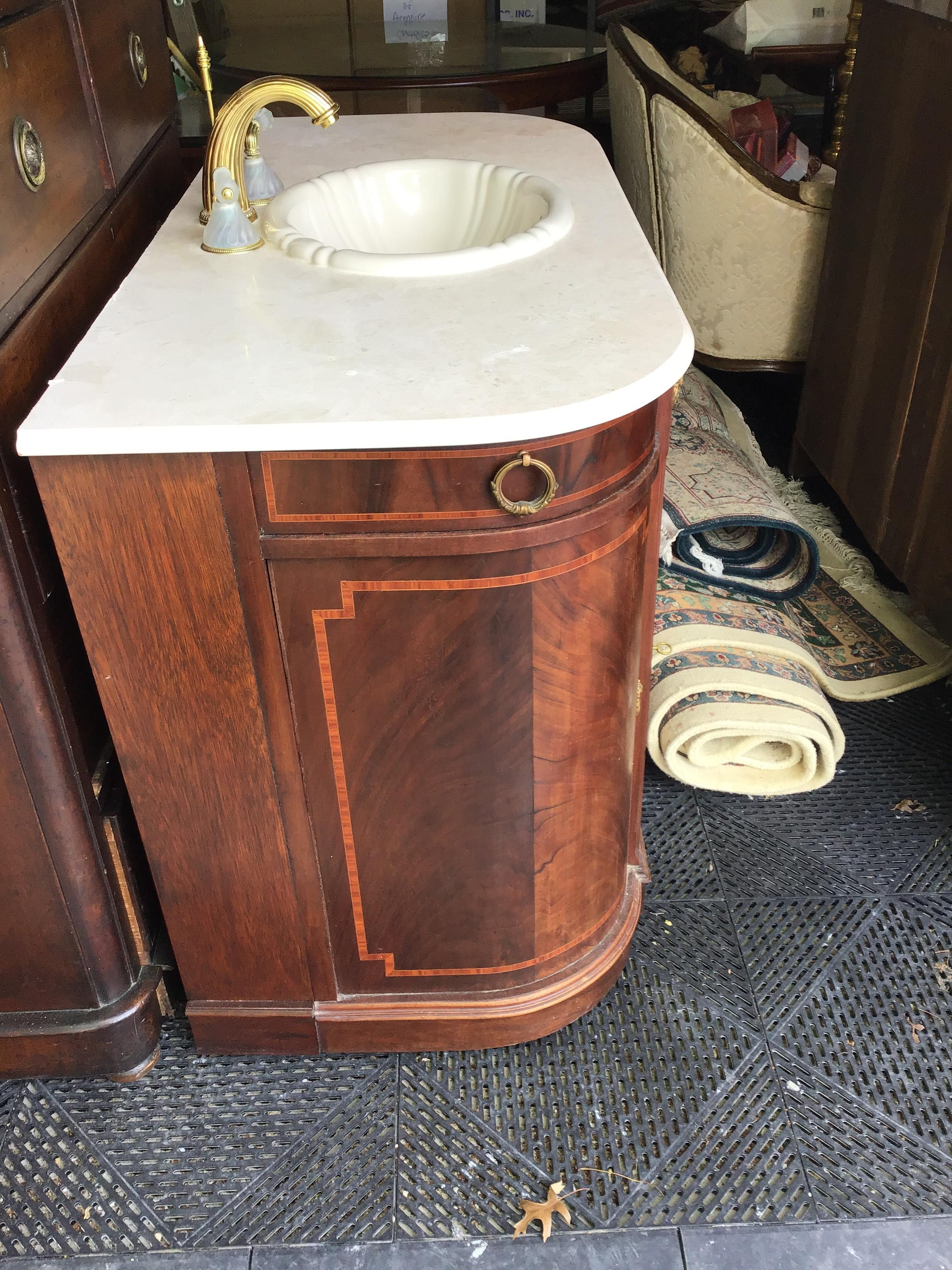 Phylrich Faucet Sink Mahogany Vanity