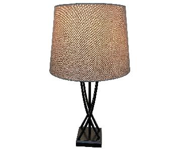 Macy's Beige Modern Table Lamp