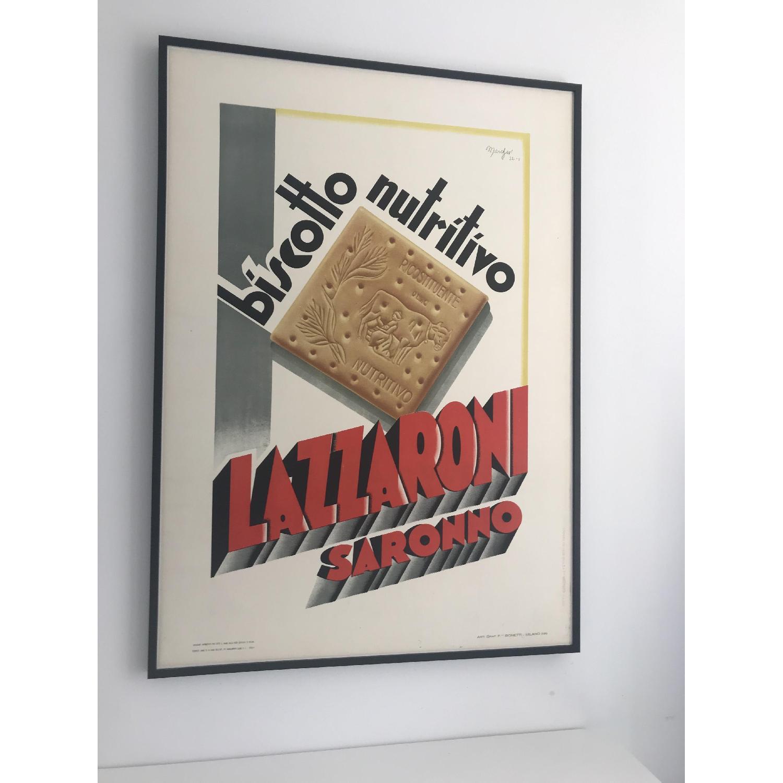 Vintage Poster Lazzaroni Saronno Biscotto Nutritivo - image-1