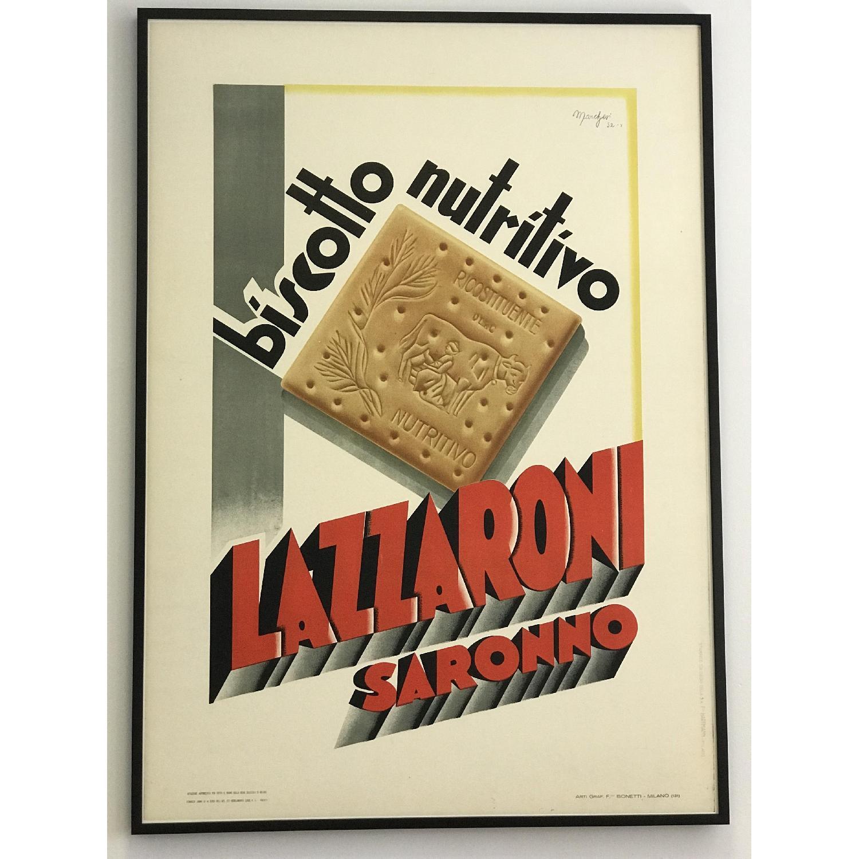 Vintage Poster Lazzaroni Saronno Biscotto Nutritivo - image-0